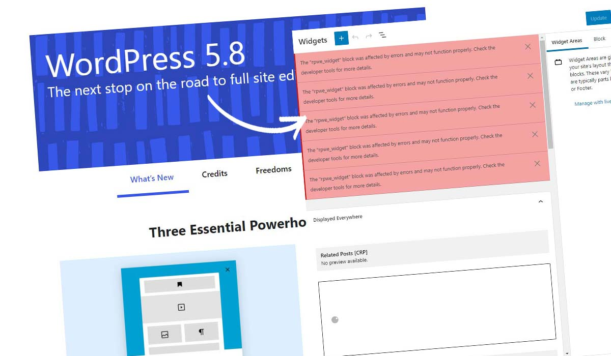 Inaktivera WordPress Block Widget! Hur du gör det på 5 sekunder + instruktioner